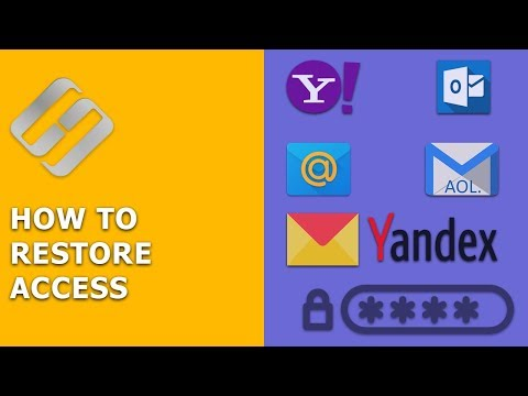 How to Restore Access to Gmail, Yahoo, AOL, ICloud, Outlook Mailbox