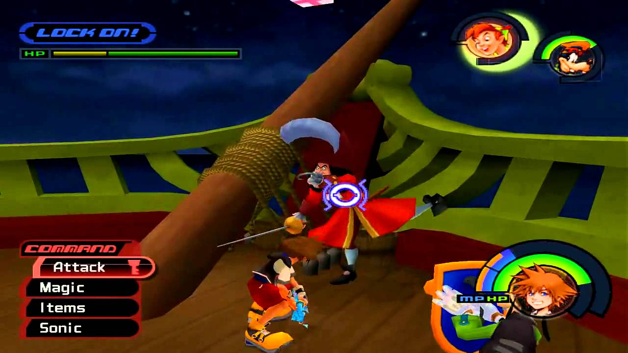 Kingdom Hearts 1 Neverland Boss Battle With Captain Hook