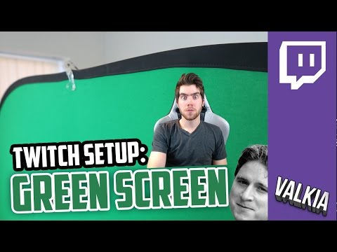 how to create green screen for obs