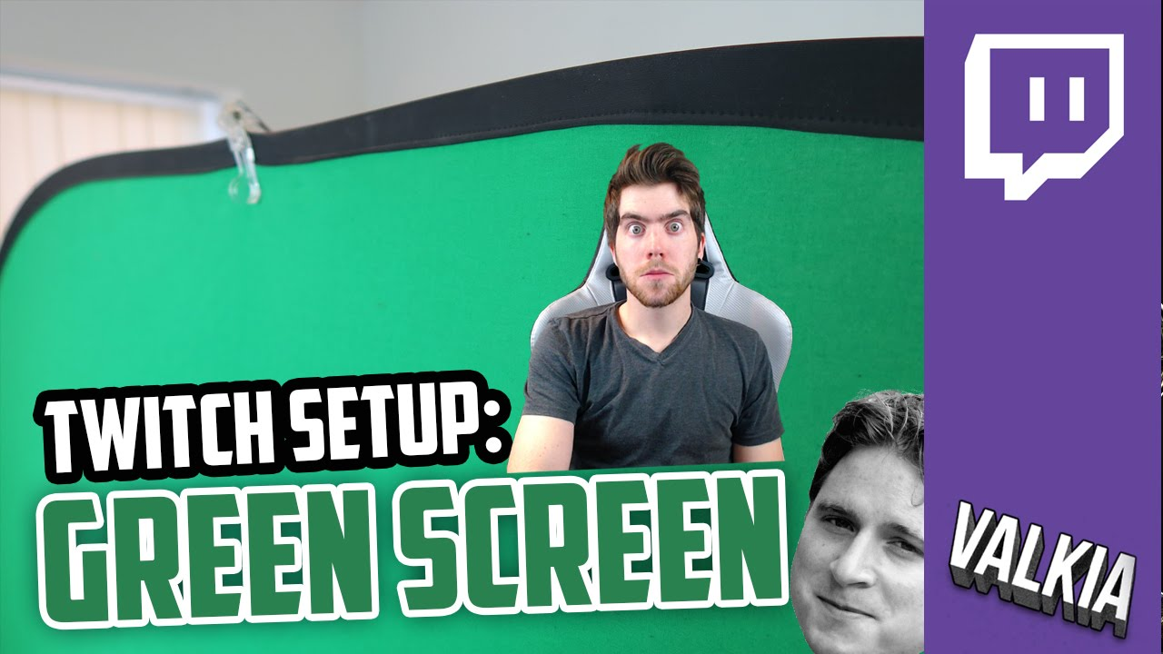 Twitch advice: Green Screen & Lighting + Stand Solution