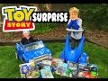 "TOY STORY ""Giant Toy Surprise"" With Power Wheels Style Kid Car, Buzz Lightyear & Lightning McQueen"