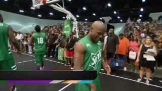Floyd Mayweather, Snoop Dogg, Chris Brown at BET celebrity game
