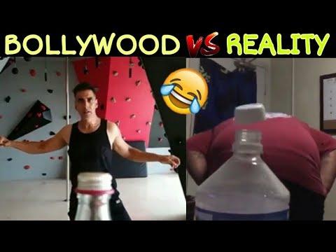 Bottle Cap Challenge: Bollywood Vs Reality || Akshay kumar Bottle Cap Challenge ||commentary Ep.2