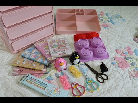 Aliexpress Haul! Stationery school supplies, cute storage drawers & silicone molds