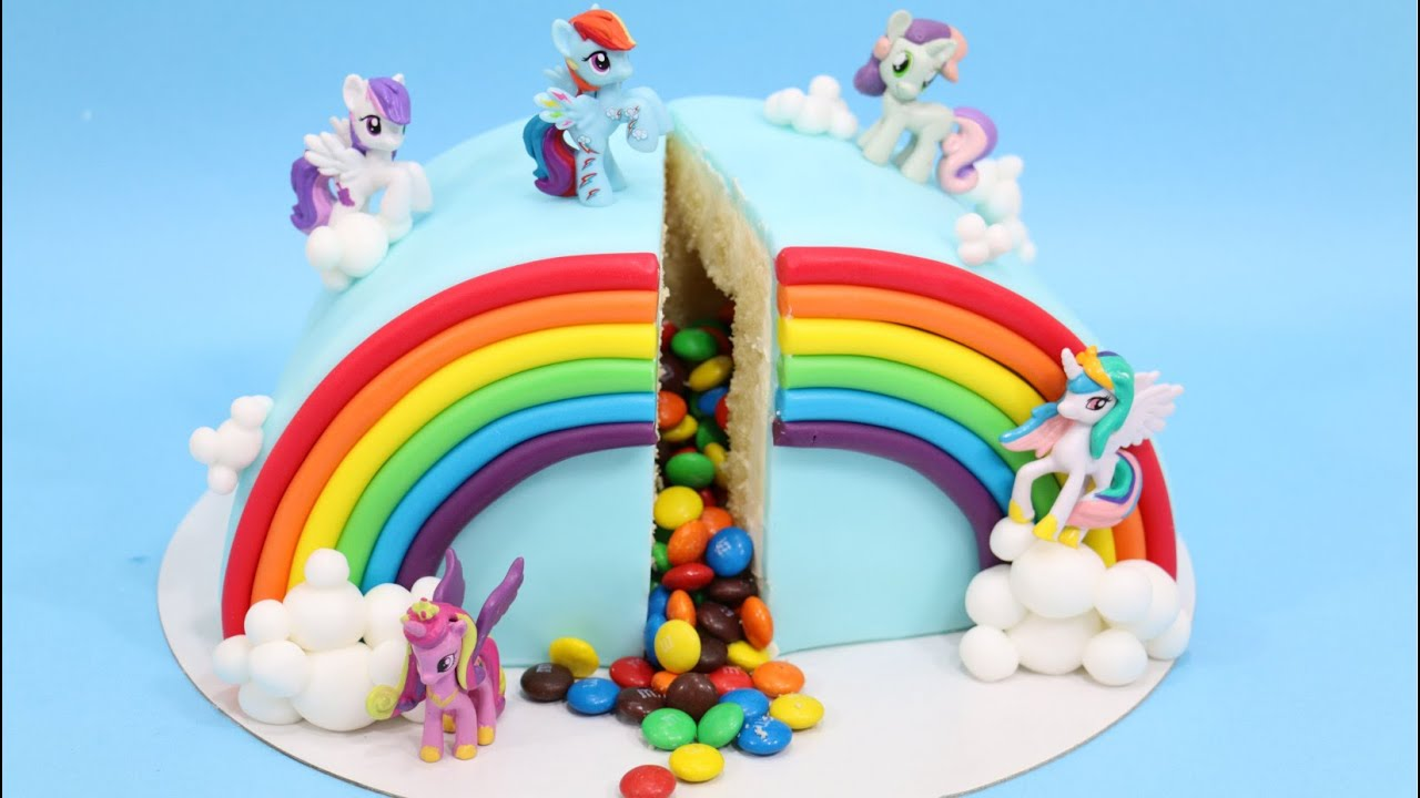 How To Make M Amp M Pi 209 Ata Rainbow My Little Pony Cake By
