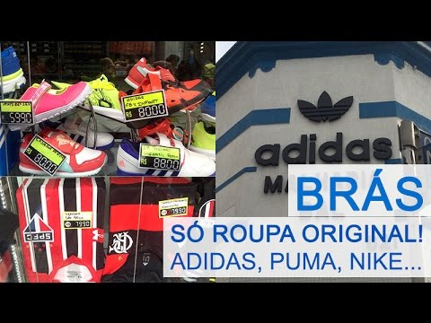 Loja da Adidas no Brás - É barato  Vale a pena  - YouTube e1759e2e1618b