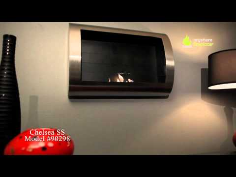 Anywhere Fireplace Chelsea Stainless Steel  - Ventless Bio Ethanol Fireplace