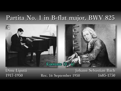 Bach: Partita No. 1, Lipatti (1950) バッハ パルティータ第1番 リパッティ