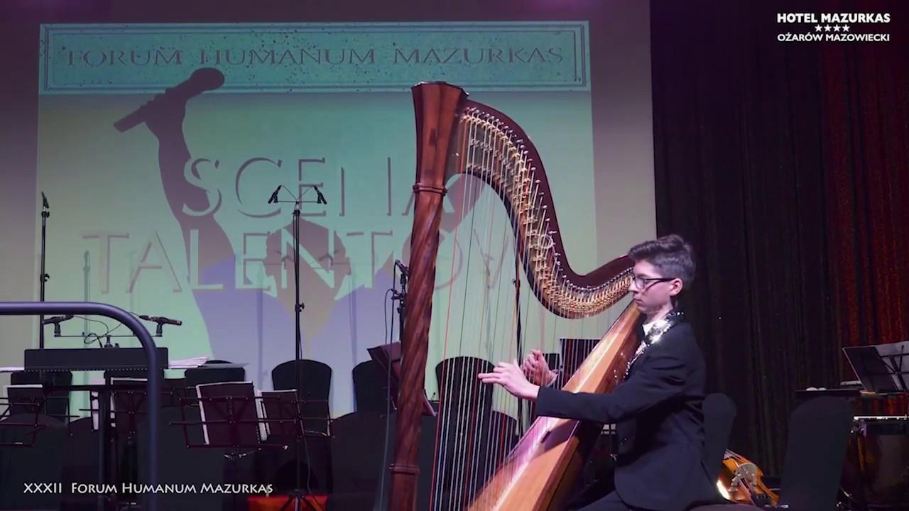XXXII FHMazurkas -Scena Talentów-Irena Bartkowska przedstawia 13 letniego Marka Kupca - harfistę