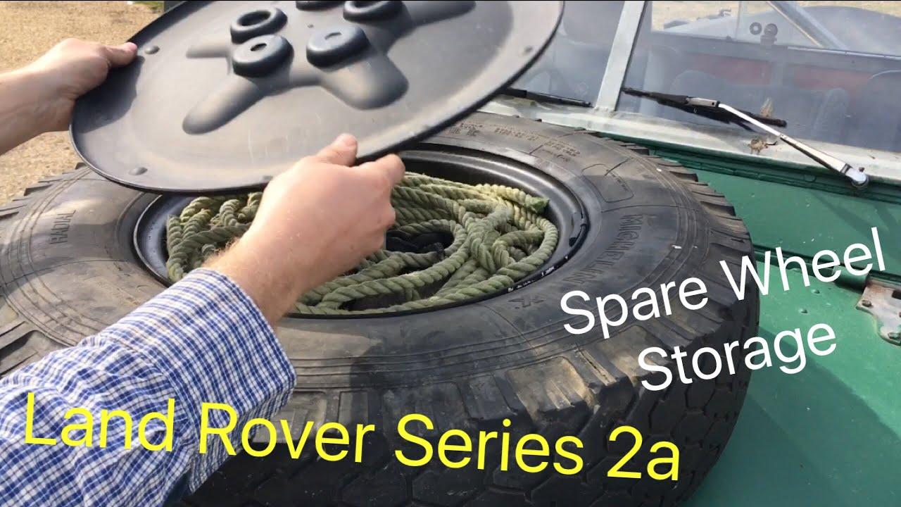 Land Rover Series 2a Spare Wheel Storage