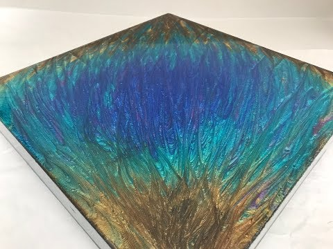 1 - Epoxy Resin Art -  Beginners Tutorial - Stunning Colours, Peacock Inspired