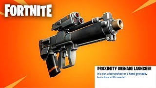 "Fortnite: ""Proximity Grenade Launcher"" Update Gameplay WITH GIVEAWAYS - (Fortnite Update)"