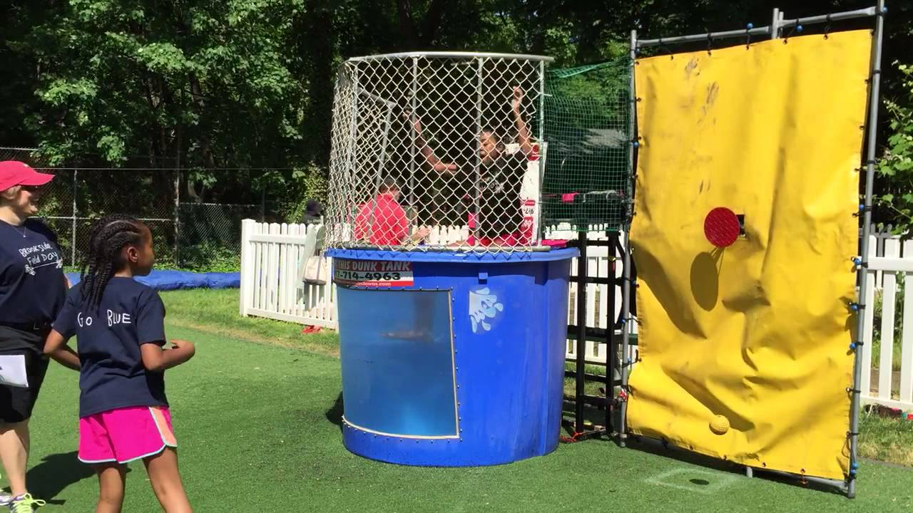 Dunking booth baptisms - Mka Brookside Field Day 2015 Dunk Tank