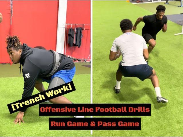 Offensive Line Football Drills [Run Game & Pass Game]