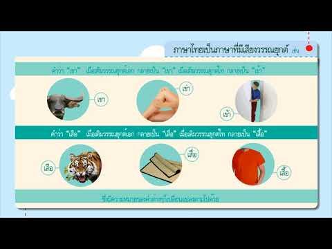 เรื่อง ลักษณะของภาษาไทย