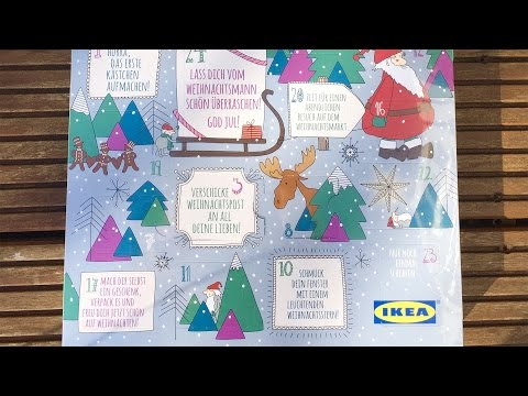 Free IKEA 10-1000€ gift surprise voucher in Xmas chocolate calendar [unboxing]