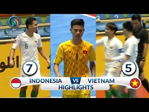 DEG DEGAN! HIGHLIGHTS INDONESIA VS VIETNAM (FT: 7-5)  -  AFC U20 Futsal Championship 2019