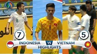 DEG DEGAN! HIGHLIGHTS INDONESIA VS VIETNAM (FT: 7-5)  -  AFC U20 Futsal Championship 2019