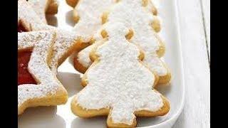 Песочное печенье елочка на новогодний стол