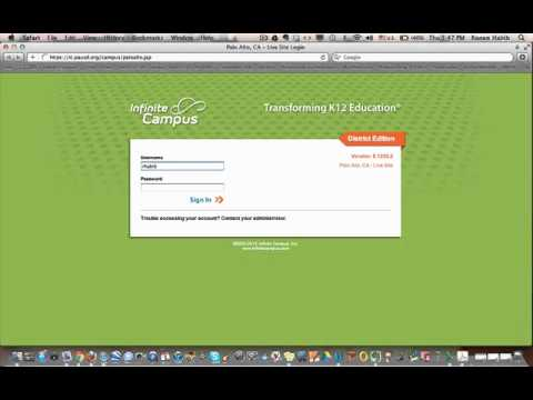 Log in to infinite campus