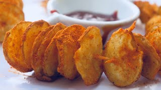 peri peri potato twister recipe  peri peri potato spirals