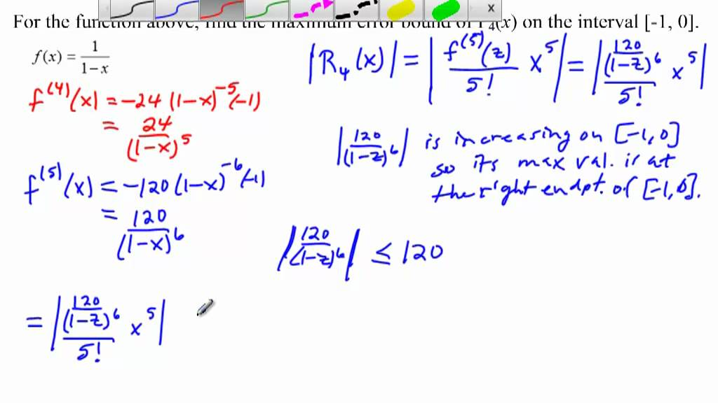 Taylor Remainder Example - YouTube