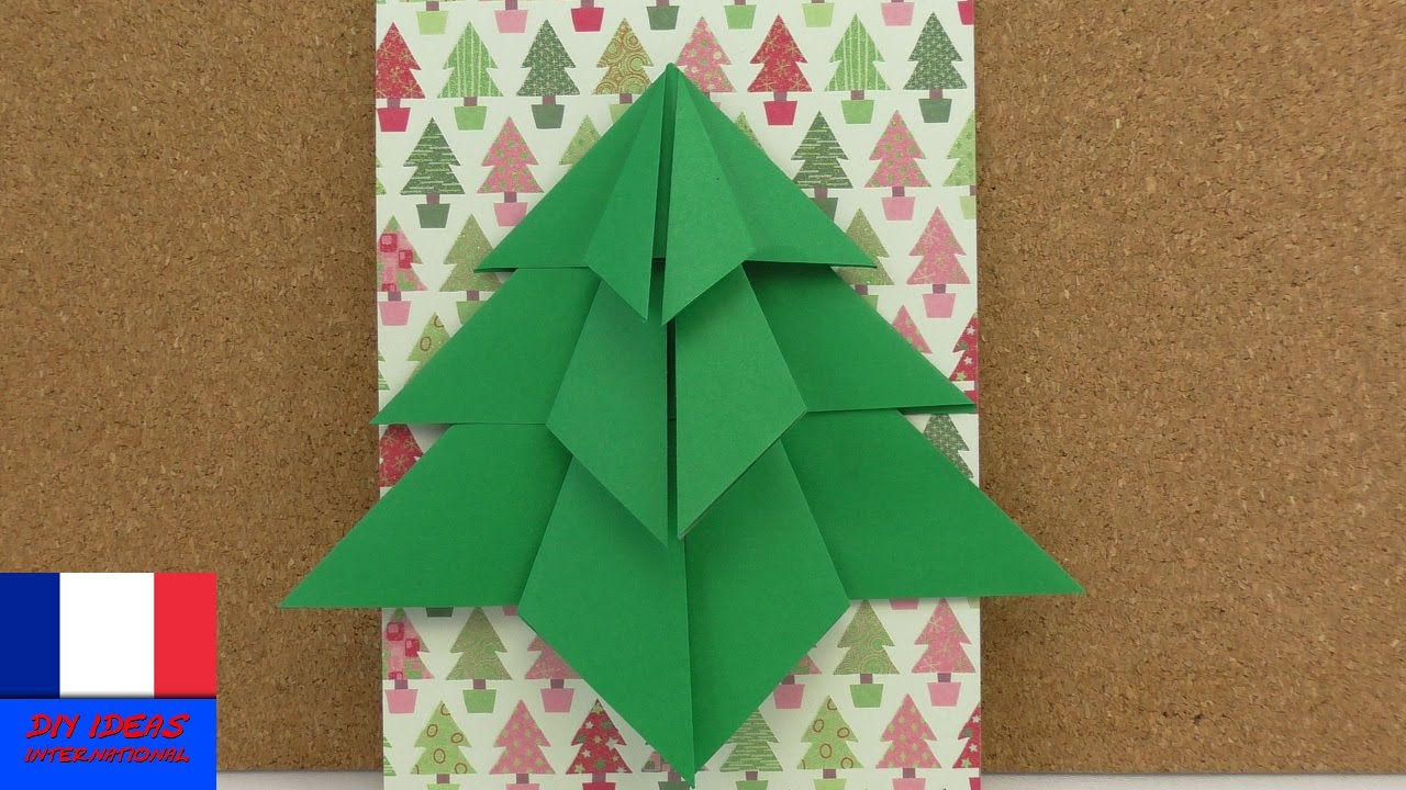 Sapin de no l en pliage sapin en origami faire soi for Pliage deco noel