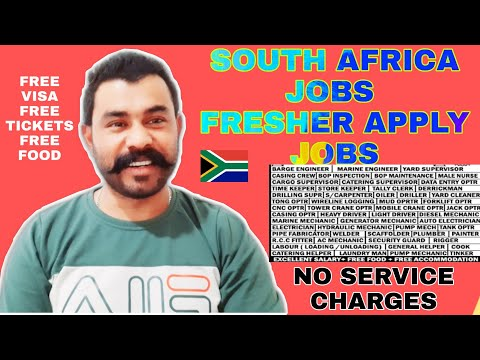 South Africa Oil&Gas Field Offshore And Onshore Jobs All CATEGORIES No SERVICE CHARGES Free VISA