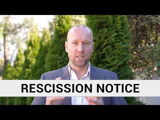 RESCISSION NOTICE SCARE | Case Study Episode 4