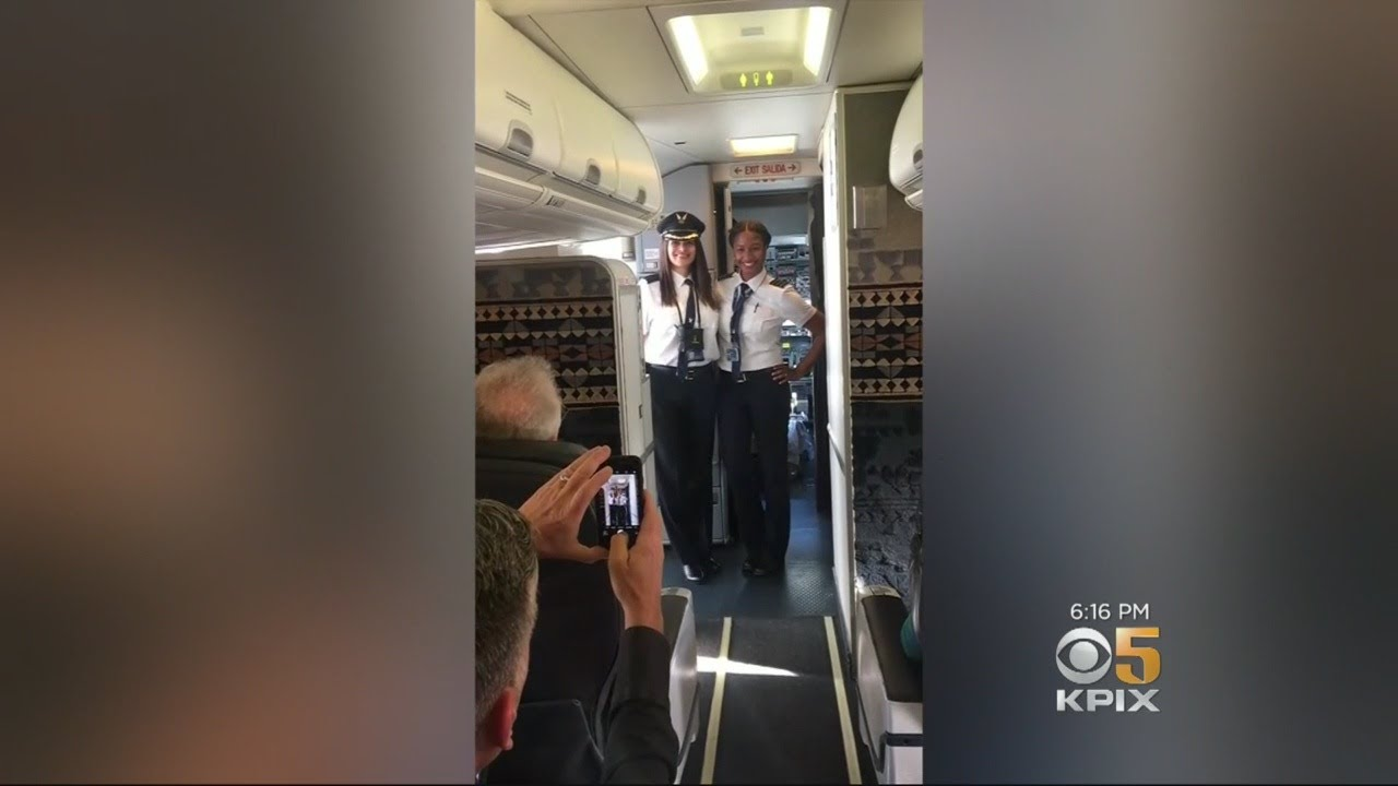 Two Female African-American Pilots Applauded After Historic First Flight For Alaska Airlines