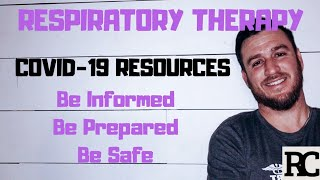 Respiratory Therapy - Resources for COVID-19