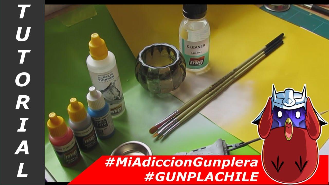 pincel pintando. #mag - tutorial armado parte 9 pintando con pincel #gunplachile