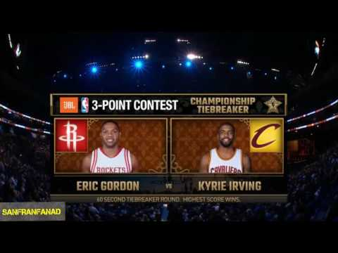 Eric Gordon vs Kyrie Irving 3 Point Contest Tiebreaker  2017 NBA All Star Saturday Night