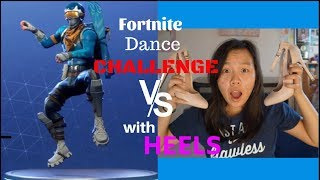 Fortnite Dance CHALLENGE w/ HEELS in REAL Life