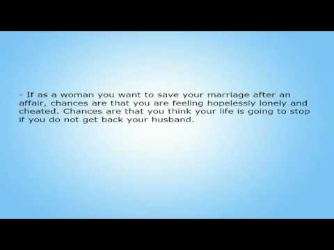 working on your marriage after an affair