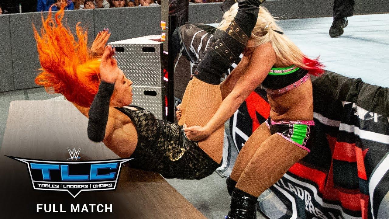 Download FULL MATCH - Becky Lynch vs. Alexa Bliss – SmackDown Women's Title Tables Match: WWE TLC 2016