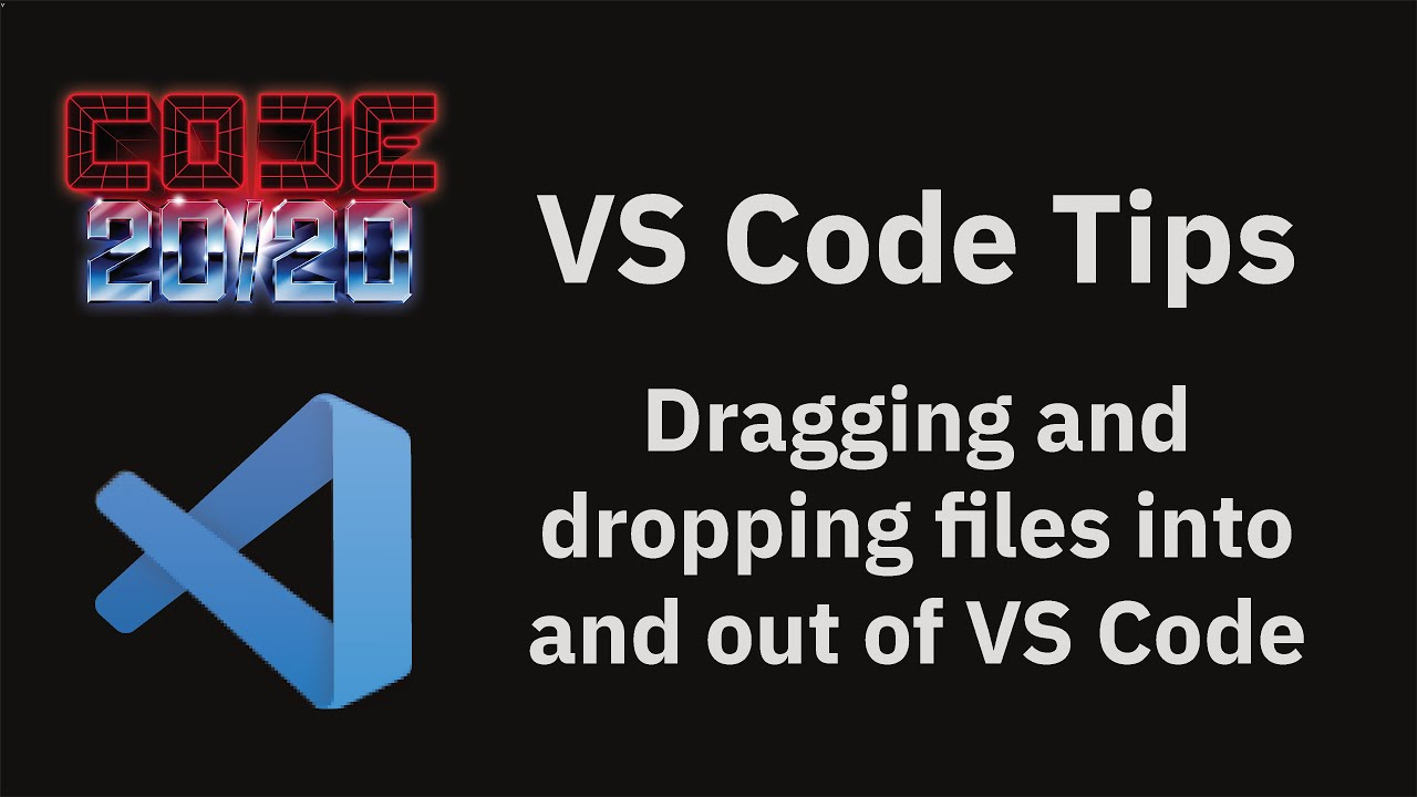 Dragging and dropping files into and out of VS Code