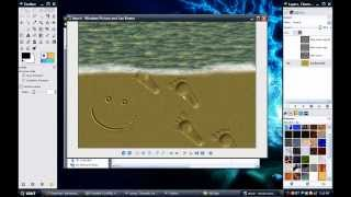 Gimp Tutorial: Sand Writing