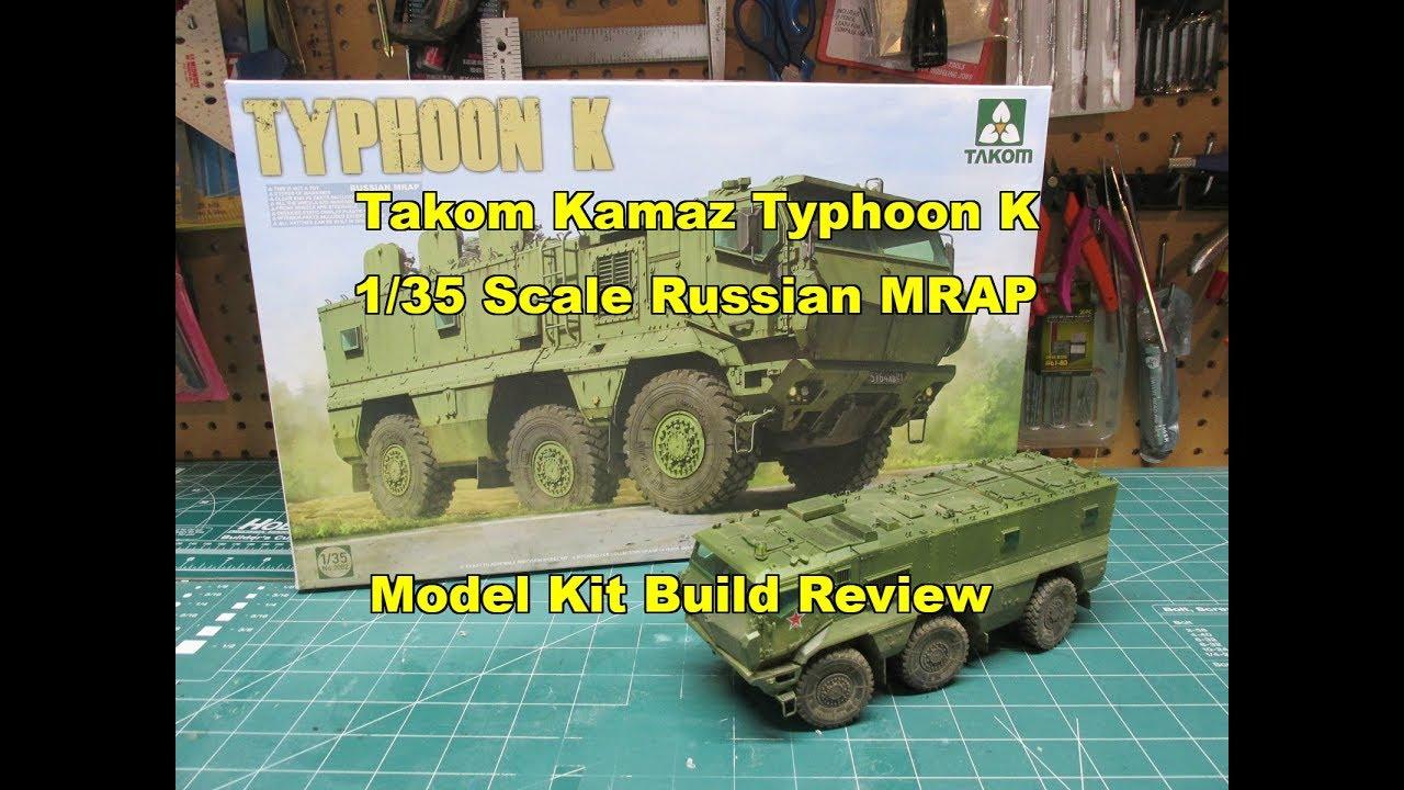 Takom 1 35 kamaz typhoon k russian mrap model kit build review 2082