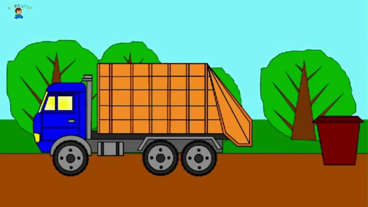 Garbage truck coloring book - Learning Colors Coloring Book Colorful Vehicles Let S Color A Garbage Truck