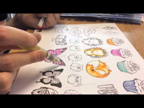 Colouring with Watercolour Marker Pens