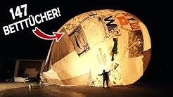 Unser riesiger COMMUNITY - BALLON ist fertig!   Der erste TEST mit dem Betttuchballon #3