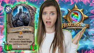 [Hearthstone] My Lich King is ENORMOUS!! Also crazy epic game