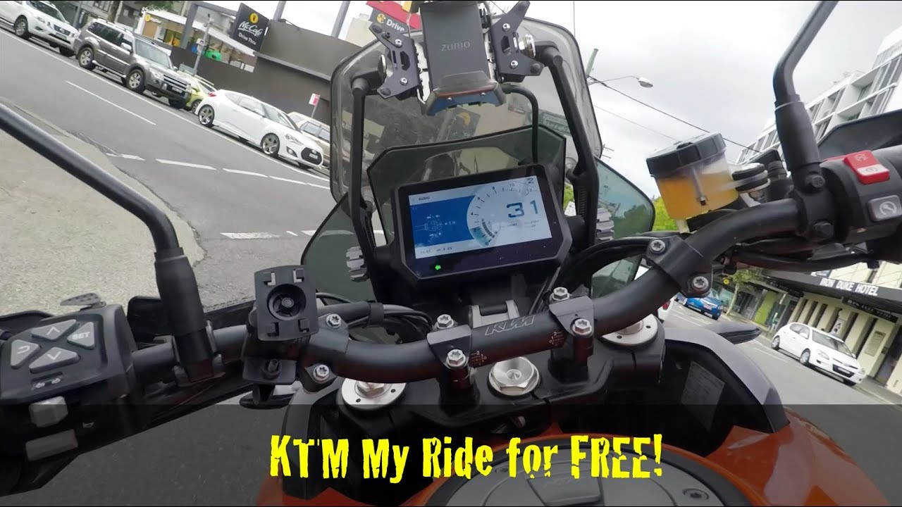 KTM My Ride software upgrade for FREE