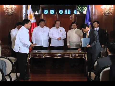 Signing of the Loan Agreement between Philippines and Korea 8/9/2012