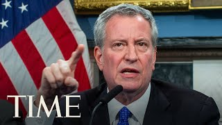 New York Mayor Bill de Blasio Holds A Media Briefing on COVID-19 | TIME