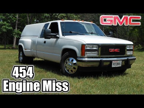 91 GMC C3500 454 TBI Engine Miss & Timing Check - YouTube