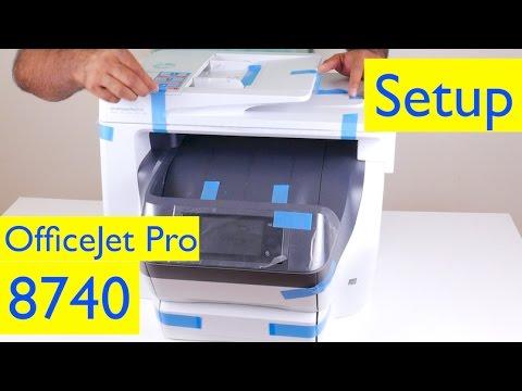 HP OfficeJet Pro 8740 Wireless Setup - Wireless All-in-One Inkjet Printer