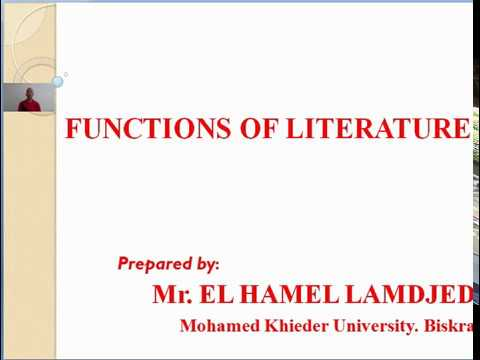 functions of literature