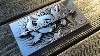 Casting an Aluminum Sign, Sand Molding and Polishing    10K Part 2